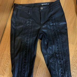 BLANKNYC Whipstitch Skinny Vegan Leather Pants